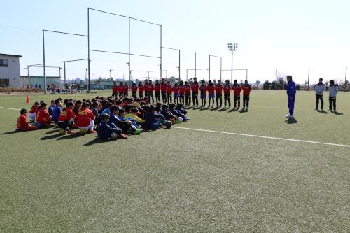 新磯公民館主催のサッカー教室に協力致しました
